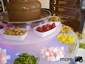Our chocolate fountain with dips